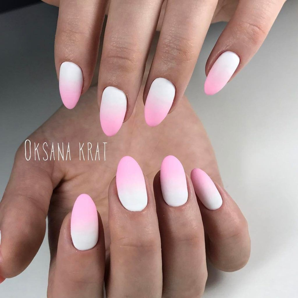 ombre nail art - french