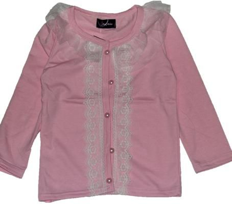 Pink Cardigan with designer Lace
