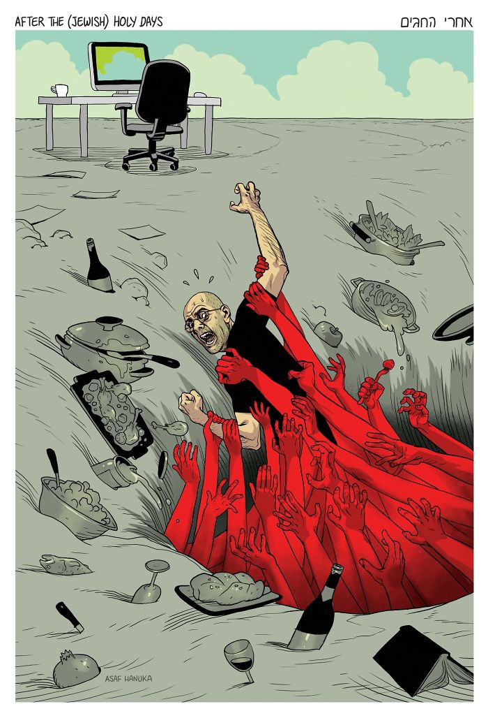 Satirical Comics The Realist Asaf Hanuka Satirical Illustrations