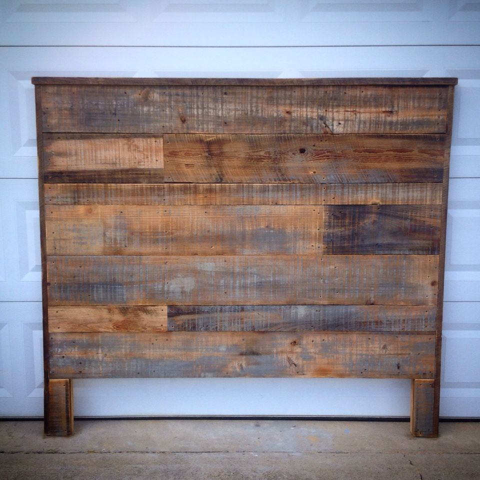 Queen headboard made out of rustic cedar barn wood … | Old ...