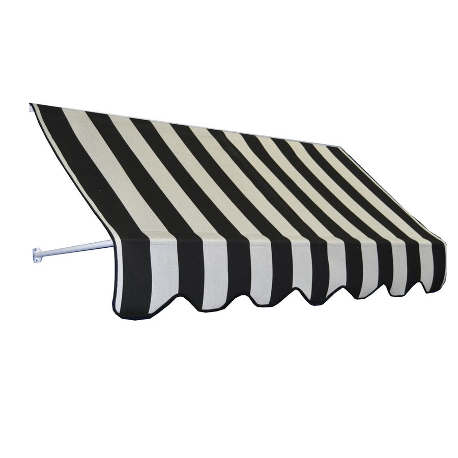 Americana Building Products 42 In Wide X 24 In Projection Striped Open Slope Low Eave Window Manual Retraction Awning Rb In 2020 Fabric Awning Sunbrella Fabric Retractable Awning