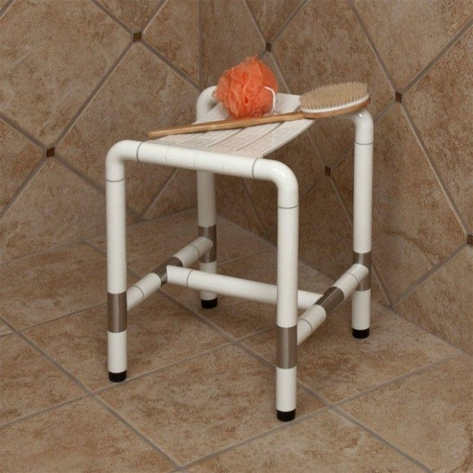 Marion Standard Shower Stool - Off-White - Shower Seats - Bathroom Accessories - Bathroom