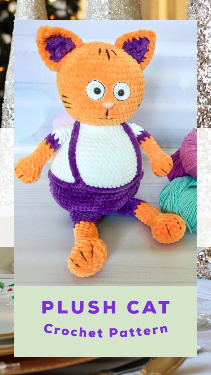 Crochet doll Crochet plush toy Crochet kitten Crochet amigurumi Crochet stuffed cats Cat figurine Amigurumi animals Knit toy Mother day gift