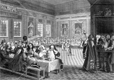 18th Century Feast In Formal Dining Hall Hogarth