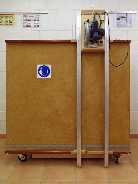 Eigenbau vertikale Plattensäge Materialwagen ...