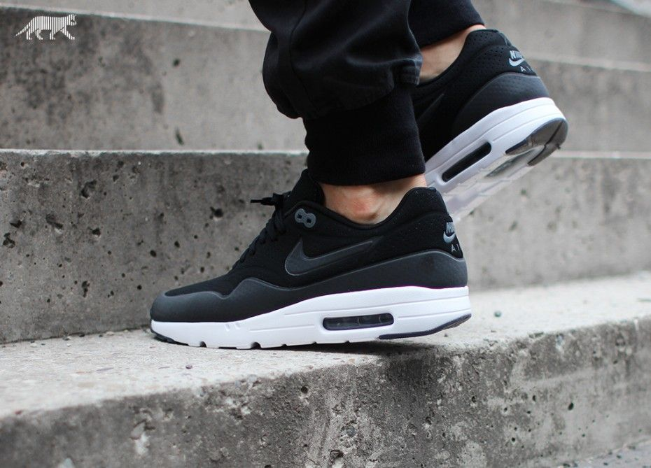 mens nike air max 1 black & white tiles