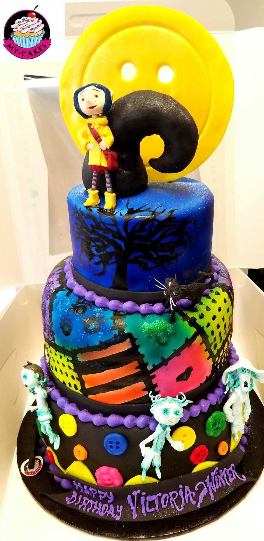 Marvelous Coraline Theme Cake With Images Birthday Cake Kids Coraline Funny Birthday Cards Online Inifodamsfinfo