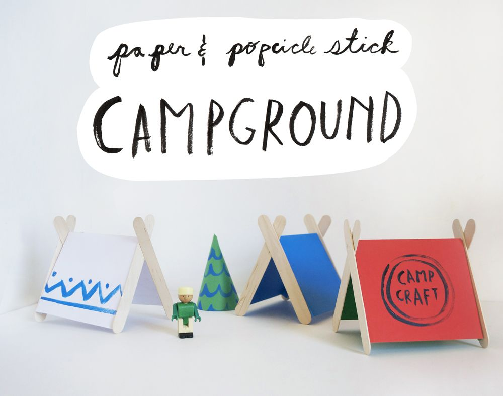 Paper u0026 Popsicle Stick C&ground Activity by Mer Mag | #KidsCraft C& #Legocrafts #  sc 1 st  Pinterest & Paper u0026 Popsicle Stick Campground Activity by Mer Mag | #KidsCraft ...