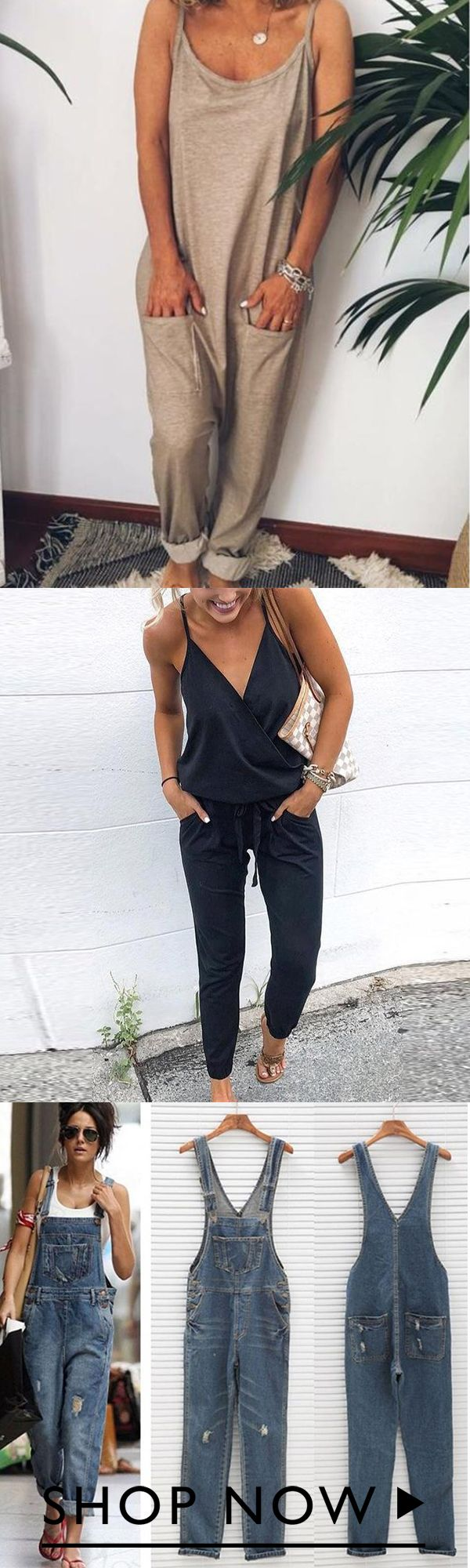 Photo of 1000+ bought!! Casual Solid Color Sleeveless Jumpsuits