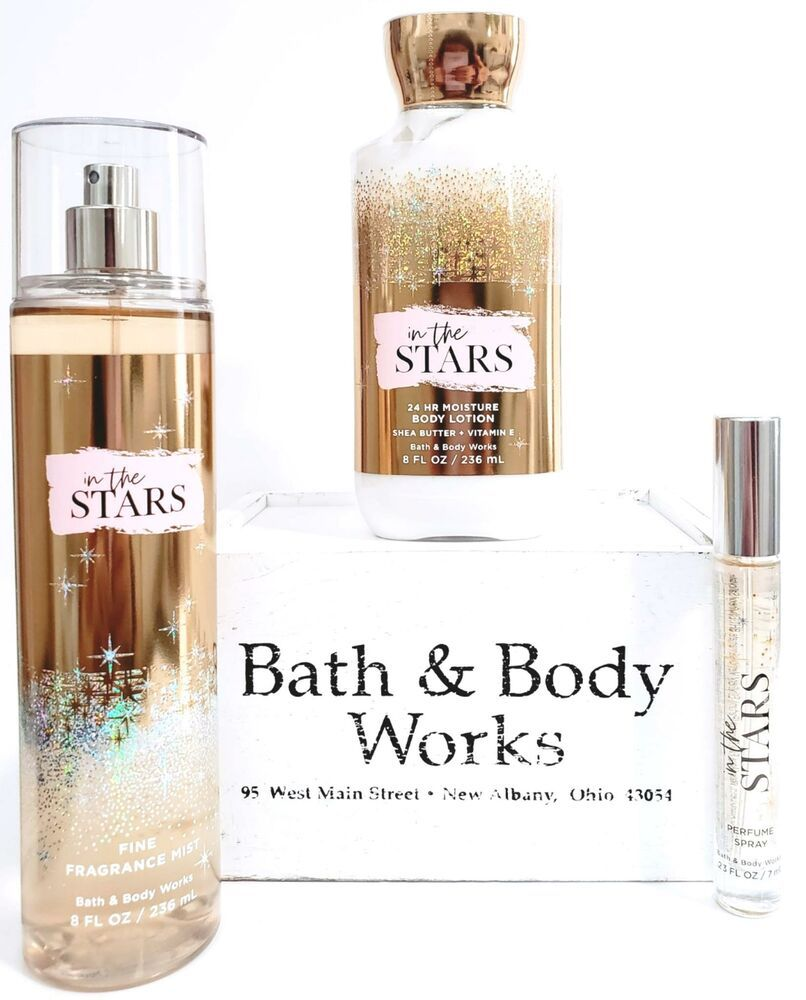 Bath And Body Works In The Stars Body Mist Body Lotion Travel