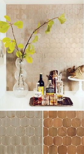 AnTeak, Spindle Mosaic as seen in Western Living by World Mosaic Tile | www.worldmosaictile.com