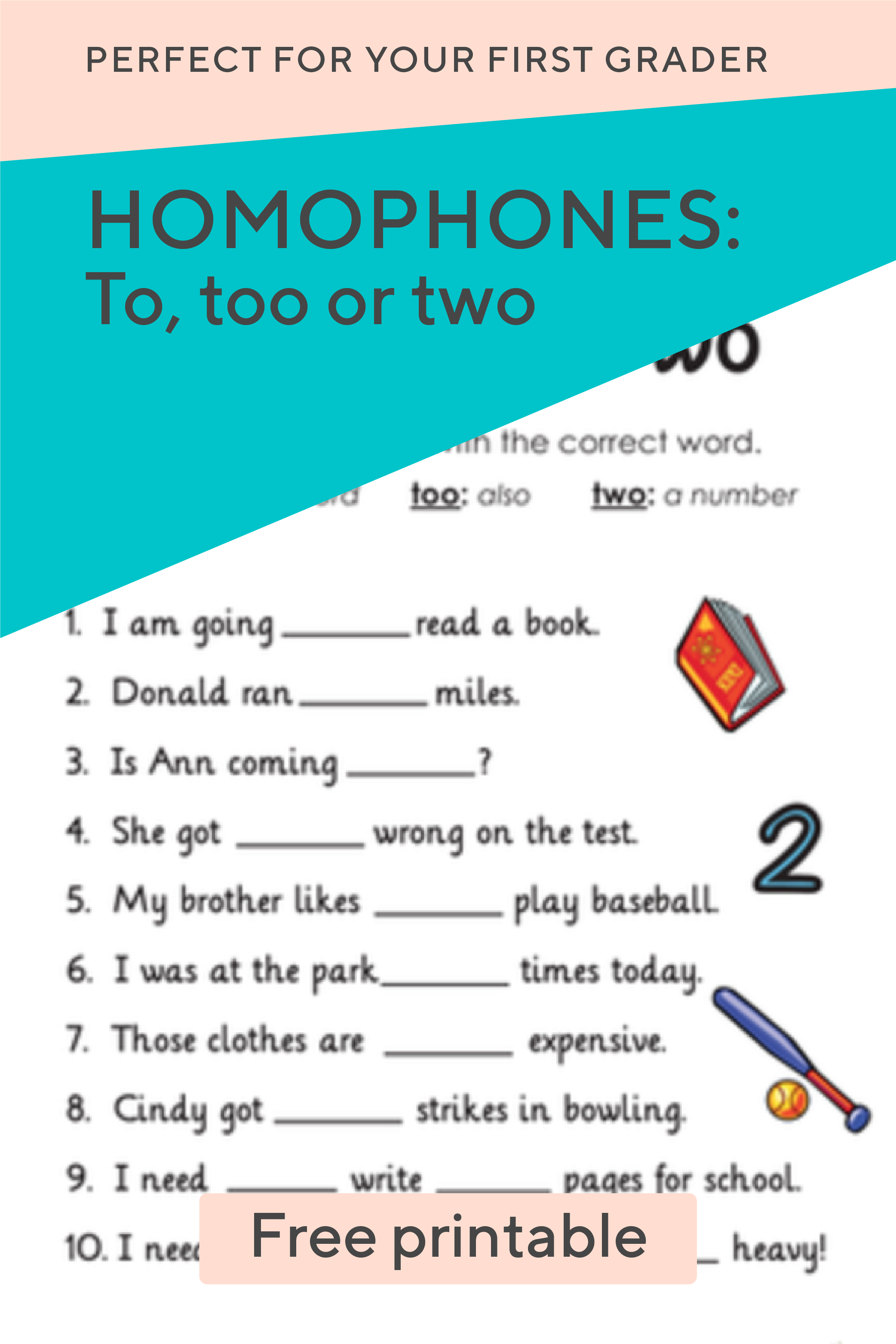 What S The Difference Between These Homophones With This Free Worksheet Your First Grader Will Determine Spelling And Grammar Teaching Tips Learning To Write [ 3126 x 2084 Pixel ]