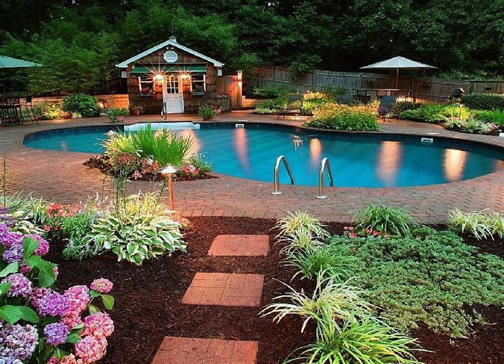 Photo Of Pool Landscaping Ideas On A Budget Garden Design Garden Design With Affordable Backyard Backyard Pool Landscaping Pool Landscape Design Backyard Pool