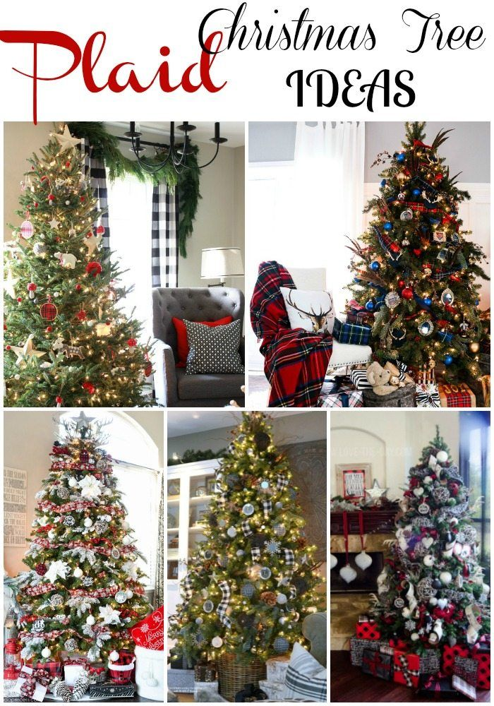 Plaid Christmas Tree Ideas Plaid Is Always In Style Plaid Christmas Tree Christmas Plaid Christmas