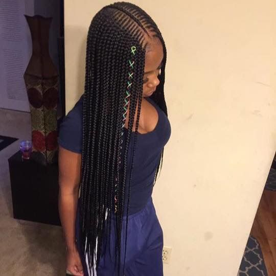 2 Layer Braids Pinterest Naimoniquee Braids For Black Hair