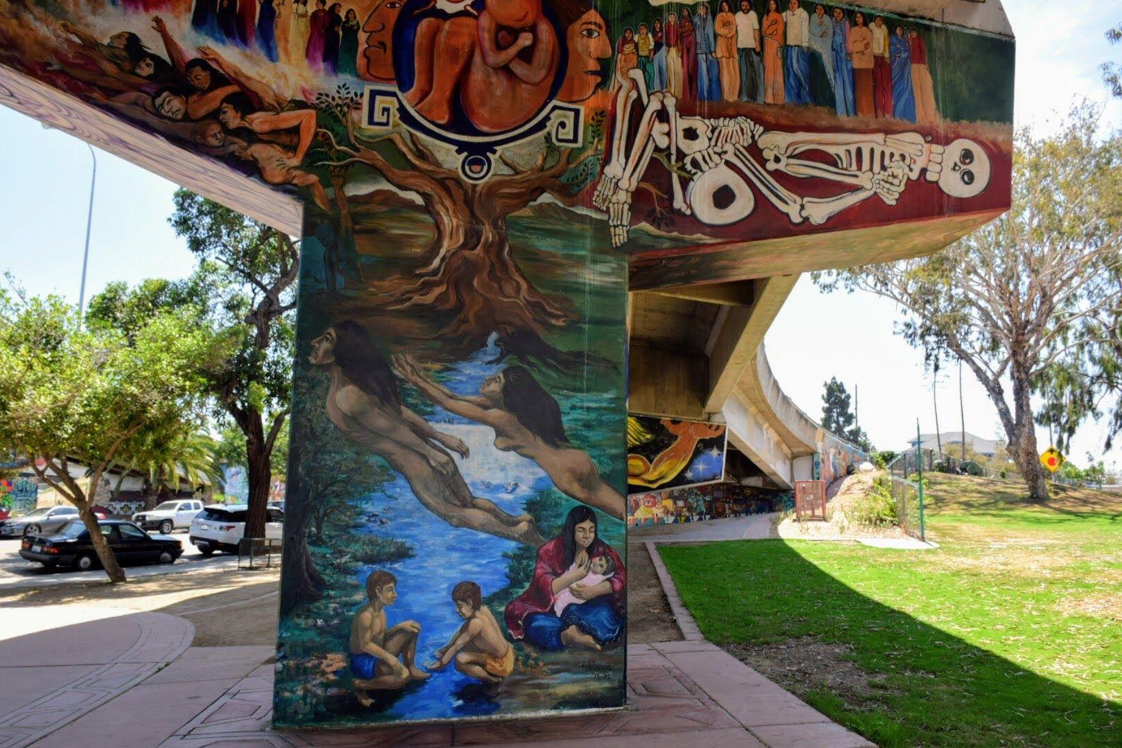 Chicano park murals barrio logan san diego california