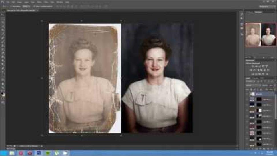 Watch This Hypnotic Vintage Photo Restoration Photo Restoration Photoshop Photography Photography Tutorials Photoshop