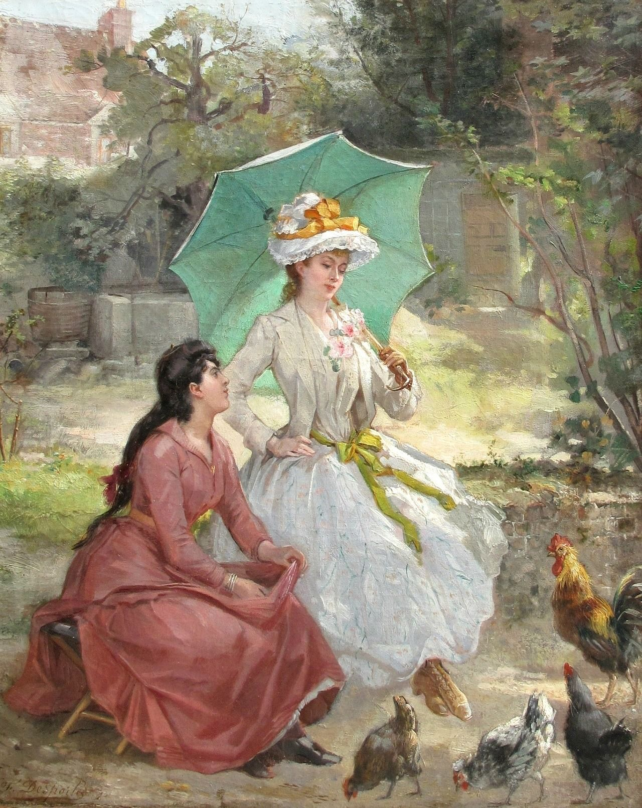 Feeding The Chickens By Francisque Desportes French 1849 1934 Cute Art Classic Art Art Works