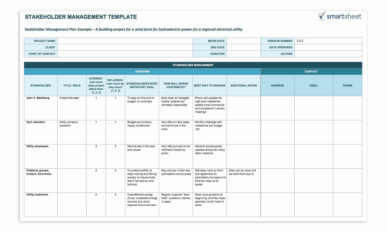 Communication Management Plan Template Inspirational How