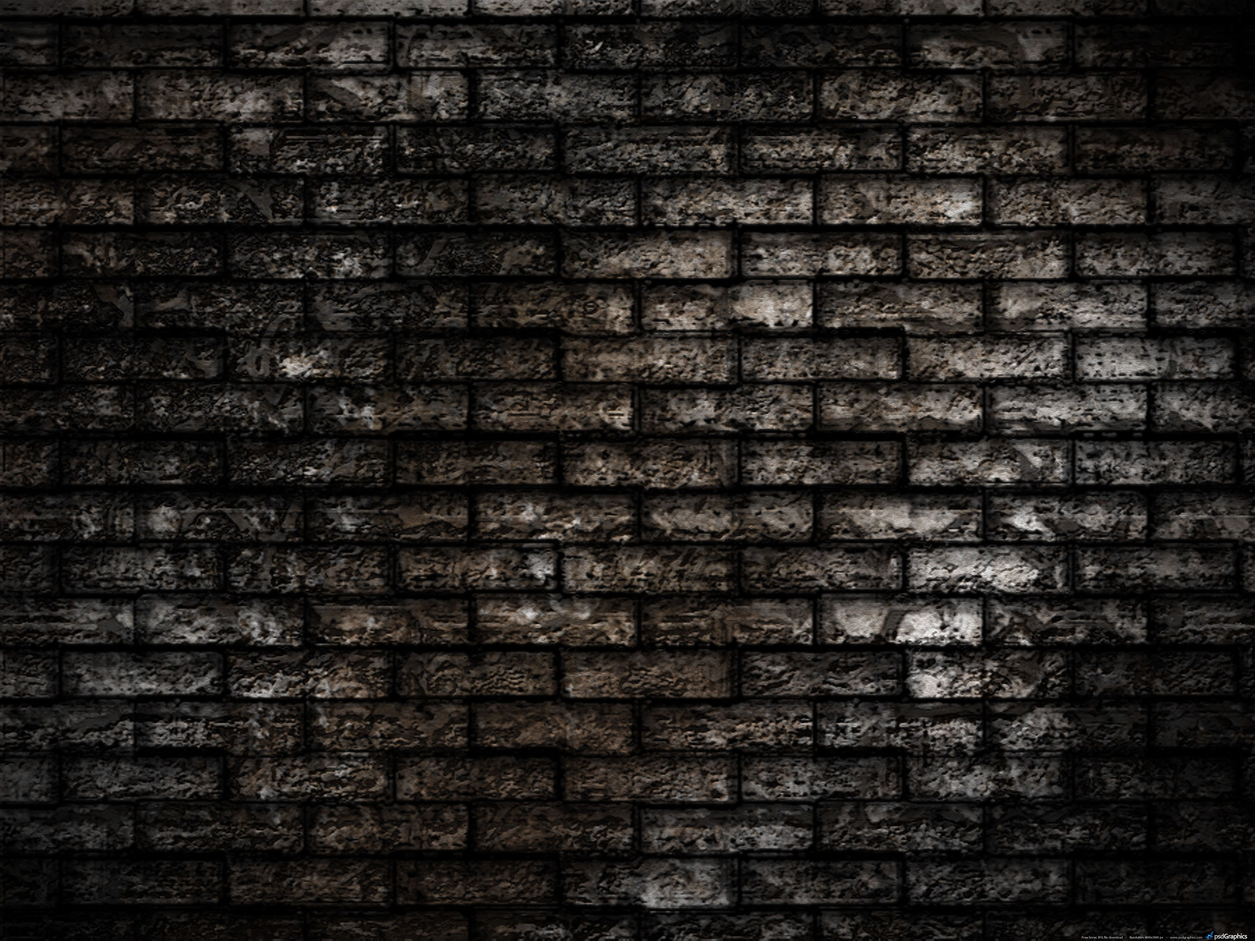 Wall Pictures Wall Seamless Brickwall Background Dark Brick