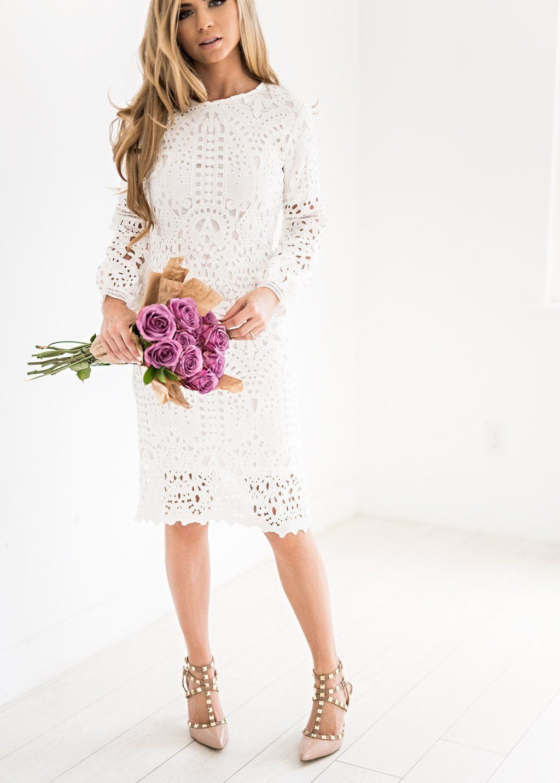 Julia Lace Shift Dress In White Jessakae Wedding Attire Bridesmaids Floral Fashion Style Blogger Lace Dress Modest White Dress White Dresses For Women [ 1433 x 1024 Pixel ]
