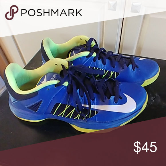 pretty nice 13eda b57ad Nike Hyperdunk 2013 Size 10 Men s Nike Hyperdunk Size 10 Blue and neon green,  pre-owned, still in good condition, from smoke free home Nike Shoes  Athletic ...
