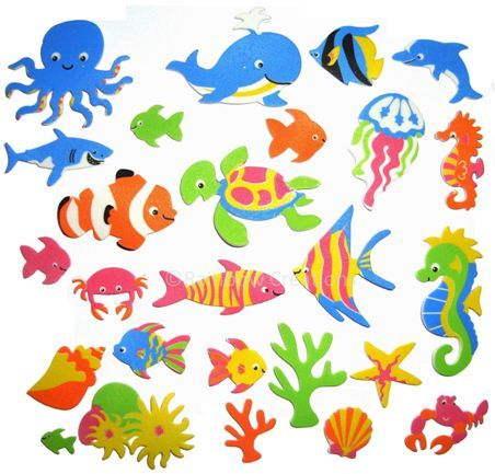 Foam Stickers Kinderkamer.Summer Craft Supplies For Kids Sea Creatures Foam Stickers Use