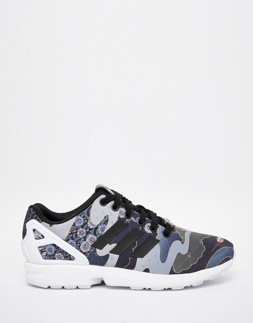 adidas Originals Rita Ora Elegant Print ZX Flux Trainers at asos.com