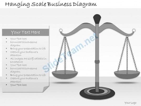 1113 Business Ppt Diagram Hanging Scale Business Diagram