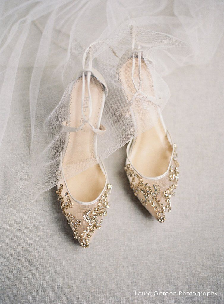 ce8860fdb427 comfortable champagne crystal low heel embellished wedding evening shoes  ankle tie