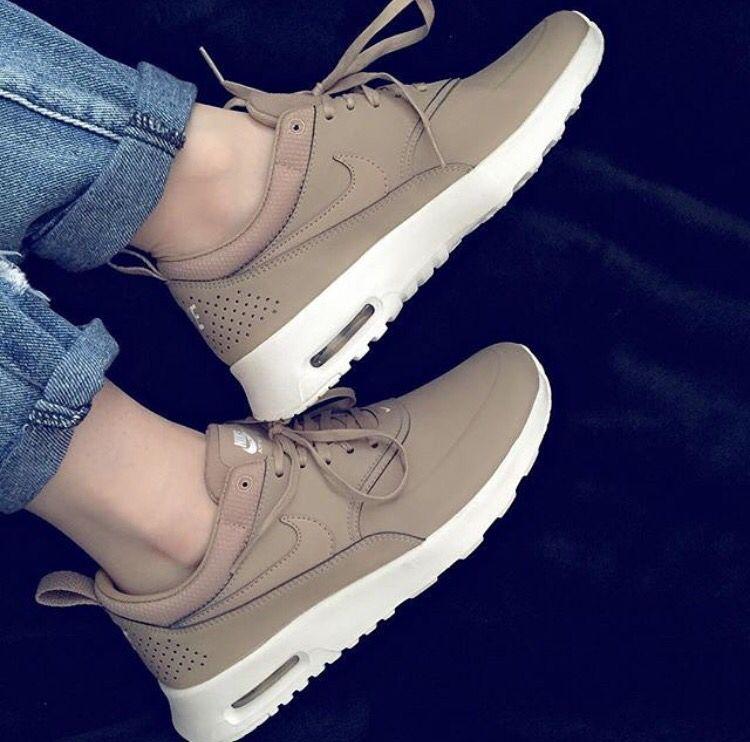 nude shoes sneakers nike nike sneakers shoes khaki nikes nude nike shoes  beige nike shoes for women light brown white air max tan nike theas nike  air nike ...