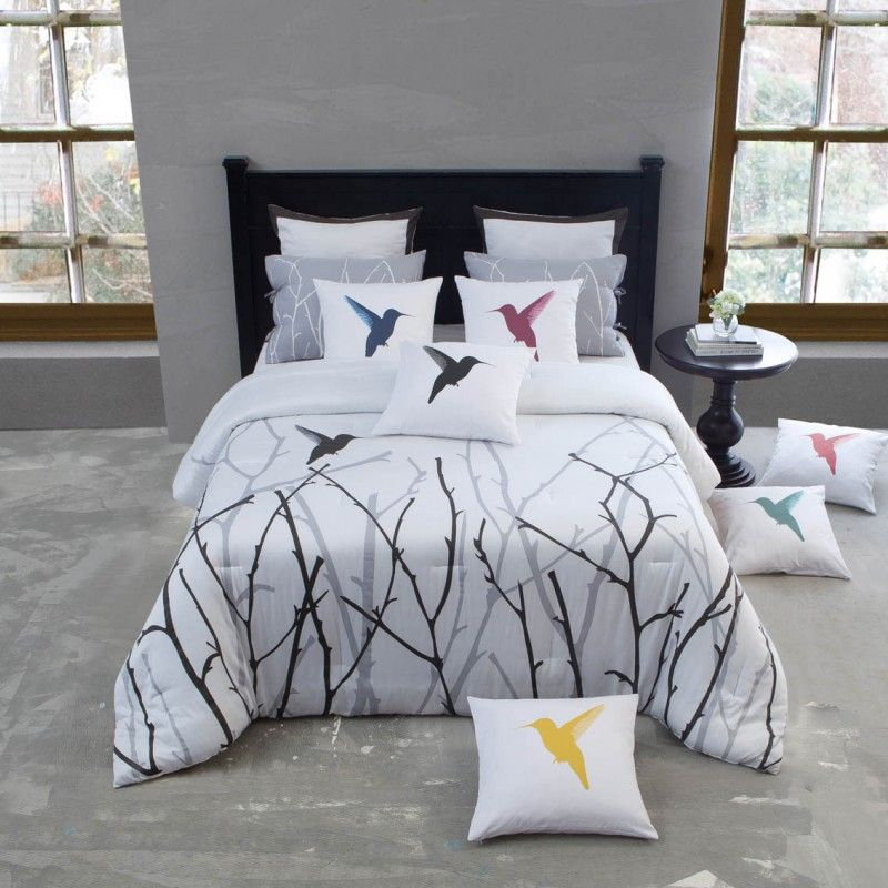Hummingbird Bed Linen Part - 41: Vicki Bedding Collection By Kensie Hear The Morning Birds Sing With This  Wonderful Nature-inspired