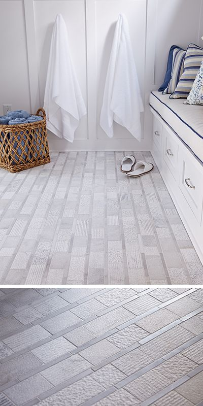 Walker Zanger Shift Stripe Mosaic In White As Part Of The Pool