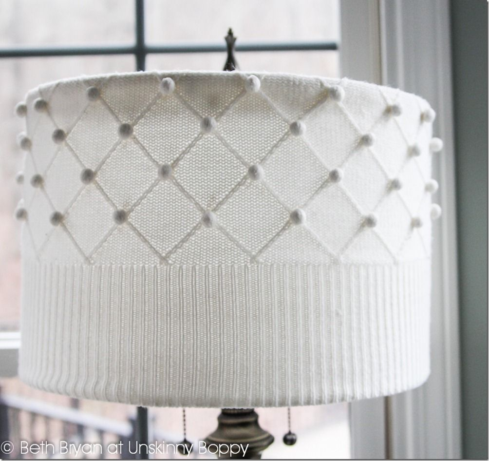 23 Ways To DIY and Redo A Lampshade | Thrift, Scissors and Store