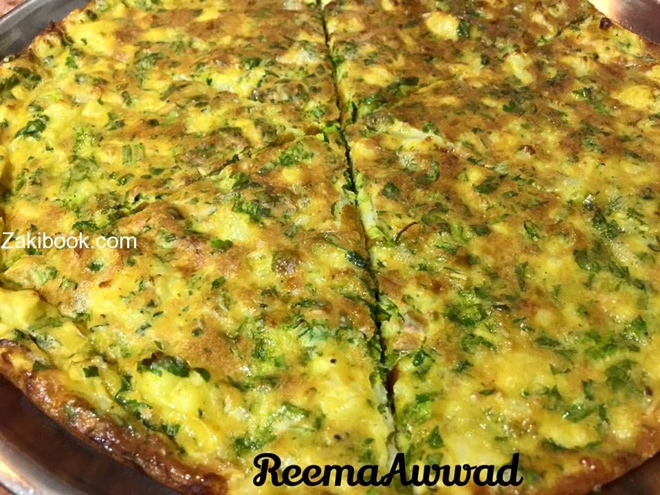 عجة الزهرة بالفرن زاكي Cooking Recipes Cooking Syrian Food
