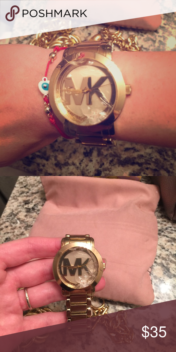 3178c3bf4b91 MK watch Glass has to be replaced. Also has some scratches. Michael Kors  Jewelry