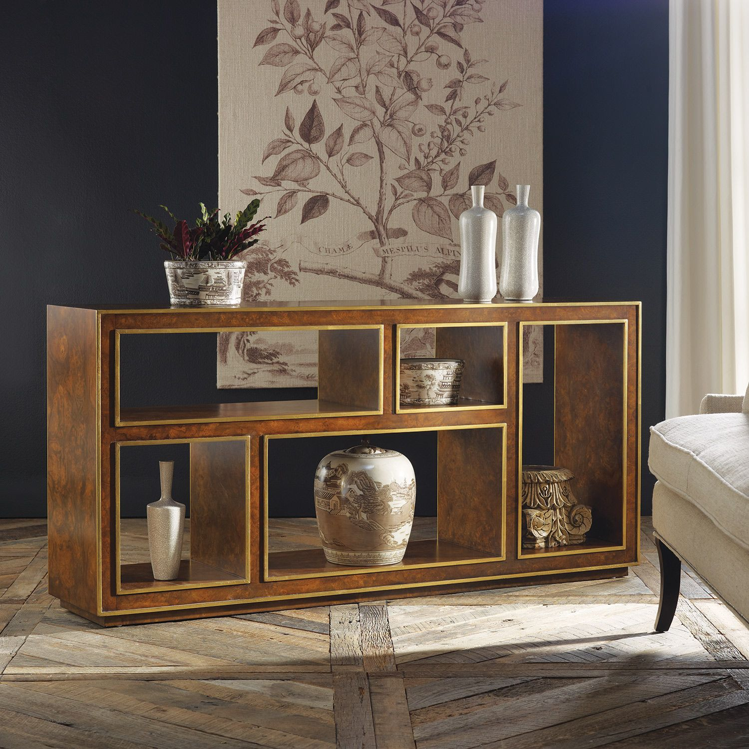 Best Modern History Home Abstract Horizontal Bookcase Burl 400 x 300