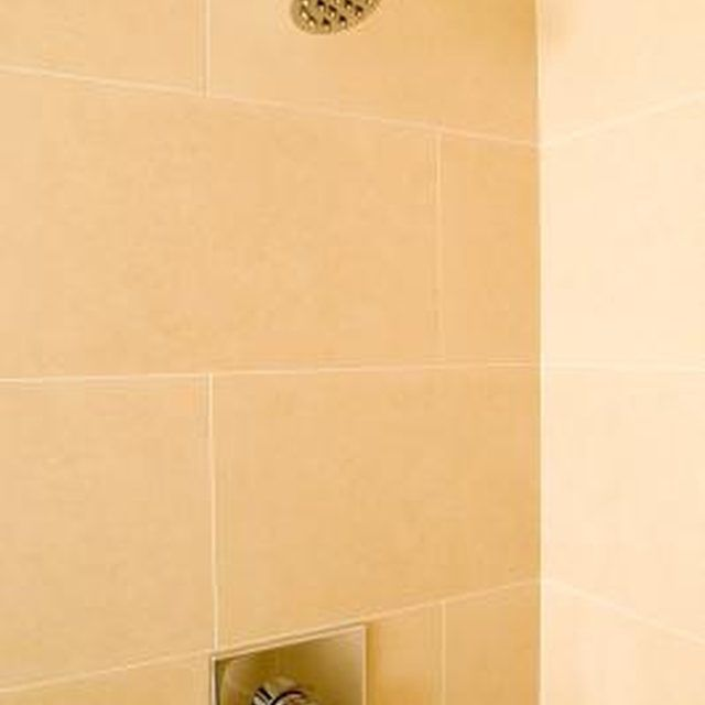 Clean Hard Water Spots From Shower Tile With Vinegar Hard Water Spots Shower Tile Cleaning Bathroom Tiles