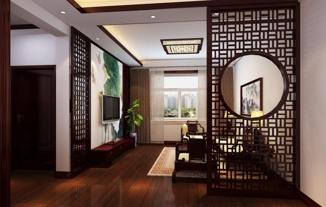 stunning-wooden-partition-design-in-chinese-styleliving ...