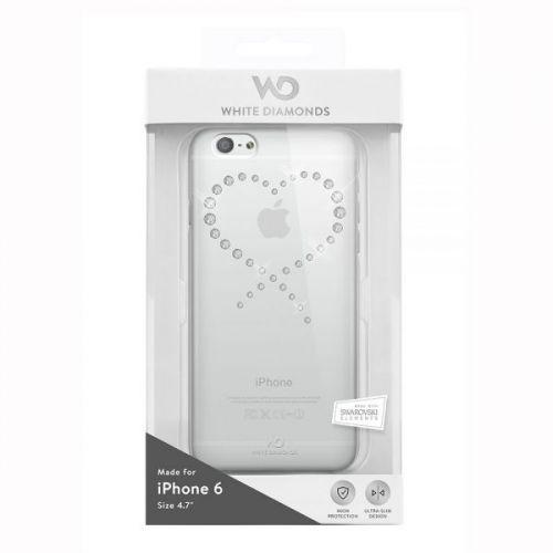 White Diamonds Eternity - дизайнерски поликарбонатов кейс за iPhone 6S, iPhone 6 (със сребристи кристали Сваровски) - прозрачен:… www.Sim.bg