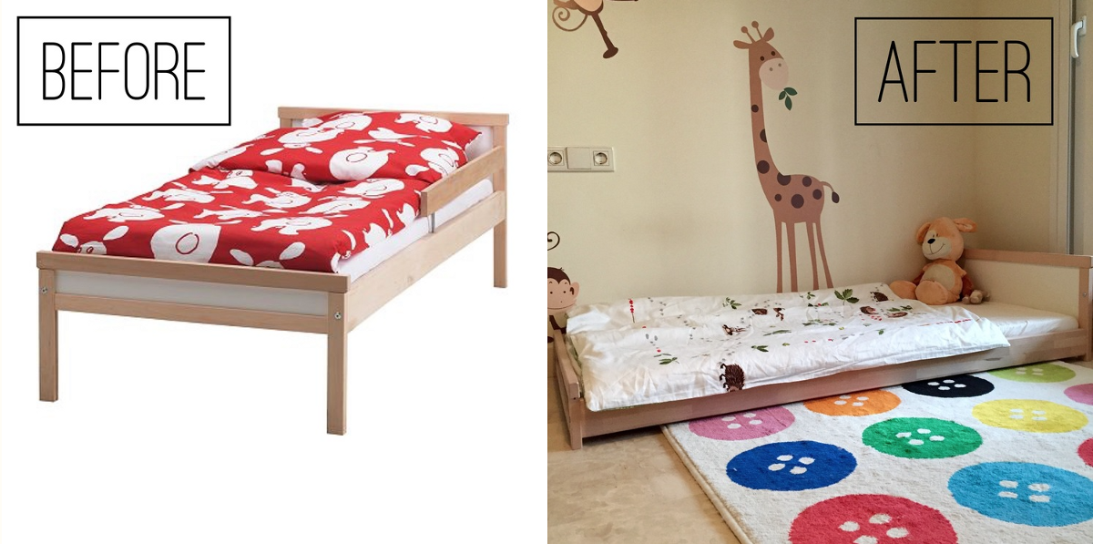 the perfect ikea montessori bed montessori kinderzimmer. Black Bedroom Furniture Sets. Home Design Ideas
