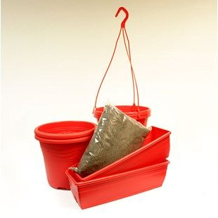 Red Planting Kit with Compost New for 2016!A great kit for brightening up any of your outdoor spaces in a Vibrant Red. You will receive a total of 6 Planters including, 2x 27cm Hanging Baskets, 2x 27cm Containers and 2x 40cm Troug http://www.MightGet.com/january-2017-11/red-planting-kit-with-compost.asp
