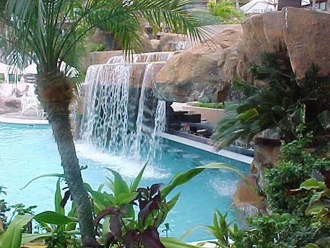 waterfall pool bar! definitely awesome pool party I wanu0027t a