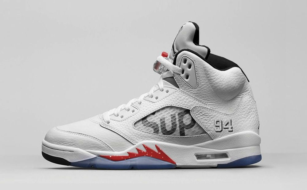 "info for ce901 11ceb Air Jordan 5 x Supreme ""White"""