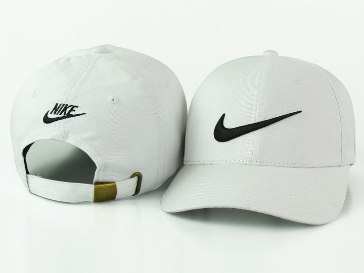 2671a213cbf Men s   Women s Nike Feather Light Tech Swoosh Adjustable Golf Dad Hat - White    Black