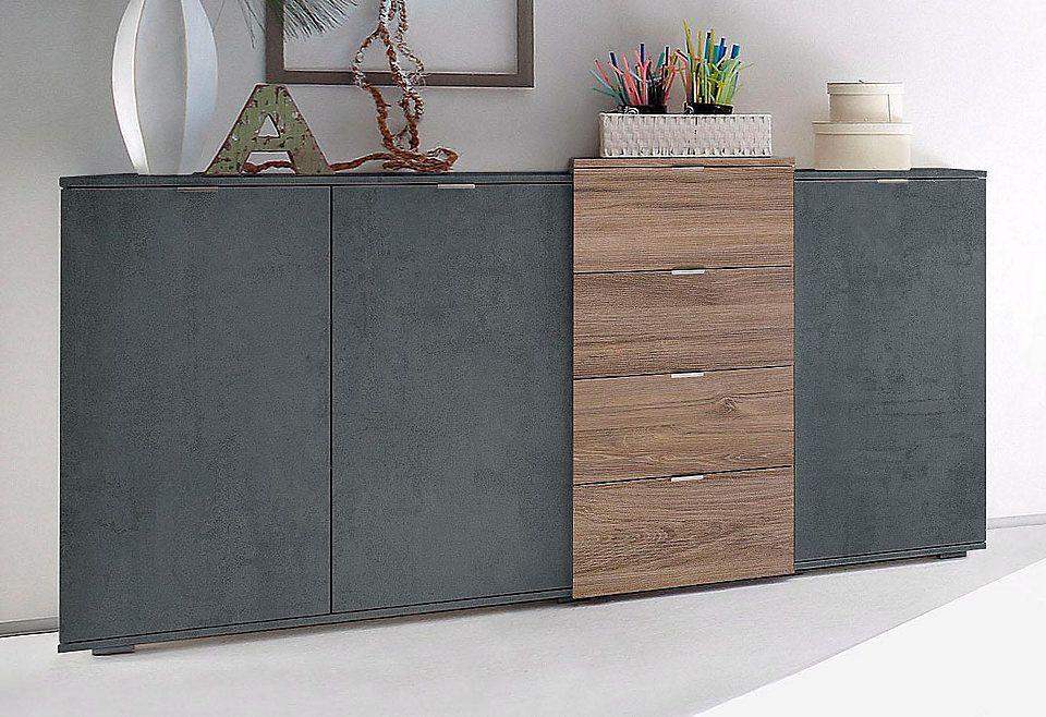 Sideboard, Breite 158 cm Jetzt bestellen unter: https://moebel.ladendirekt.de/wohnzimmer/schraenke/sideboards/?uid=a4a09aca-25cc-5c79-b011-10cf8c07def6&utm_source=pinterest&utm_medium=pin&utm_campaign=boards #schraenke #wohnzimmer #sideboards