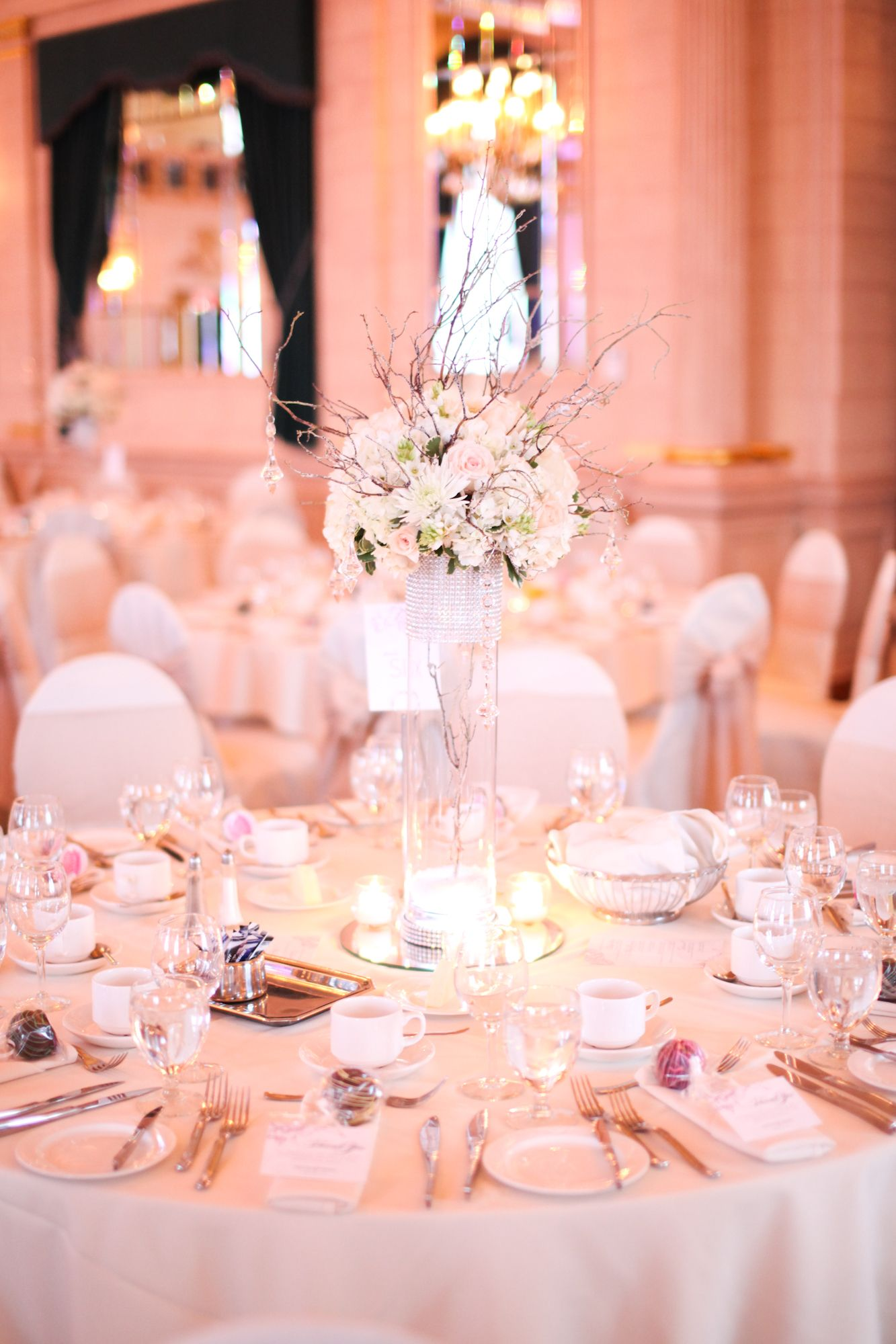 The most perfect of centrepieces for a glitzy winter wedding without ...