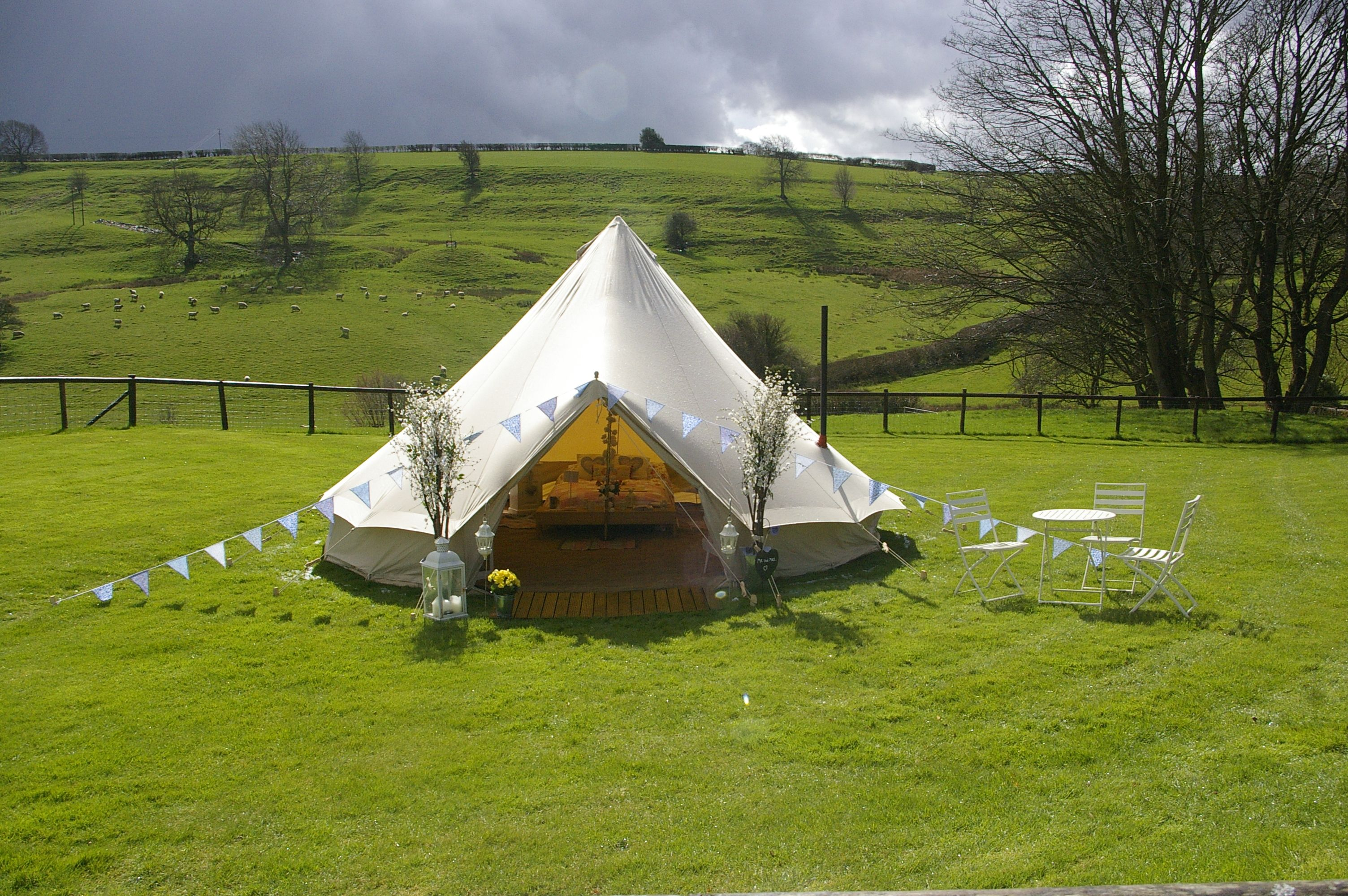 BellTent at Kingscote Barn #Gloucestershire #Glamping