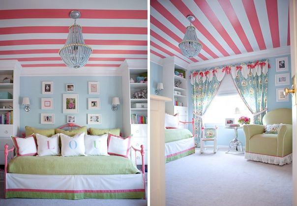 rosa streifen an der decke m dchen jugendzimmer kids pinterest jugendliche decke. Black Bedroom Furniture Sets. Home Design Ideas