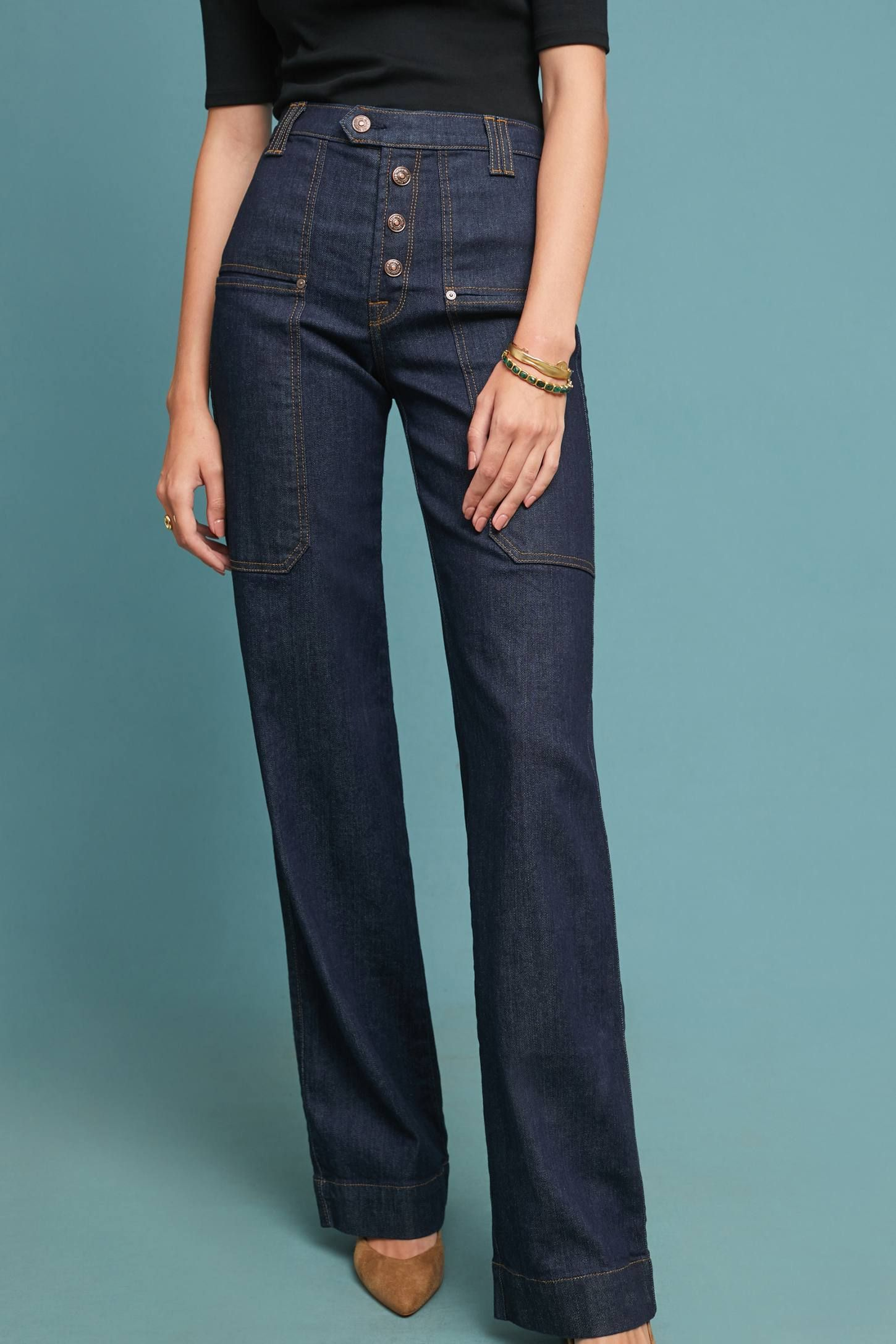 7 For All Mankind Alex Ultra High Rise Utility Jeans High Waist